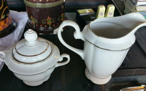 Vintage SRS China Cream And Sugar Bowl, Brazil