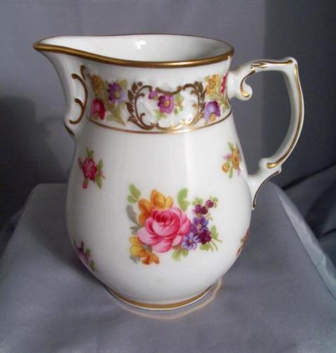 Oscar De La Renta ROYALE Porcelain Creamer Multi Floral Pattern