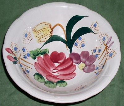 Ceramic Hand-Painted Floral Pattern 9½