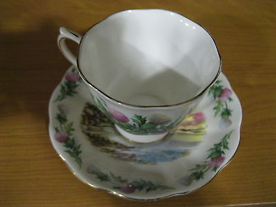 ROYAL ALBERT TRADITIONAL BRITISH SONGS SERIES CUP & SAUCER *BONNIE BANKS*