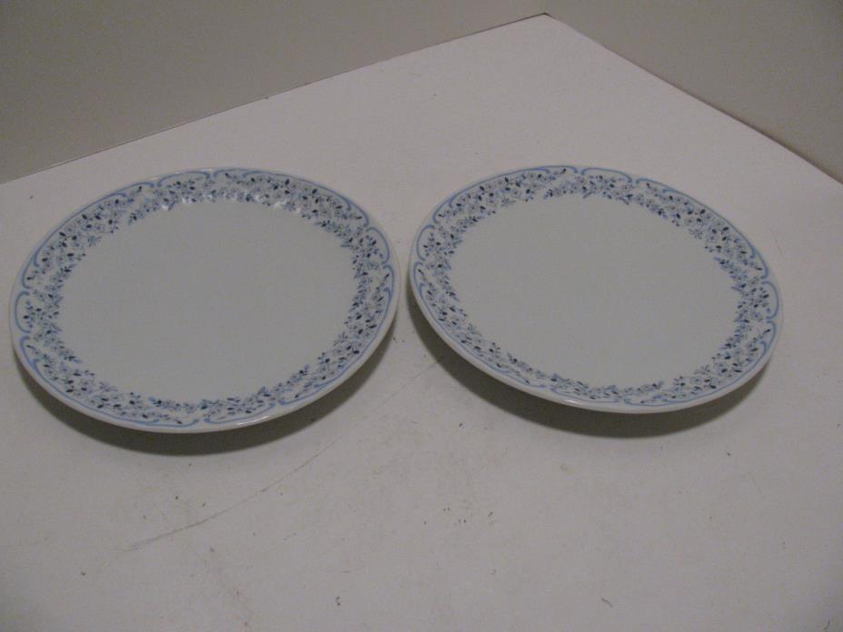 2 - Wunsiedel Retsch Bavaria Porcelain Blue/White Salad/Dessert Plate - Floral