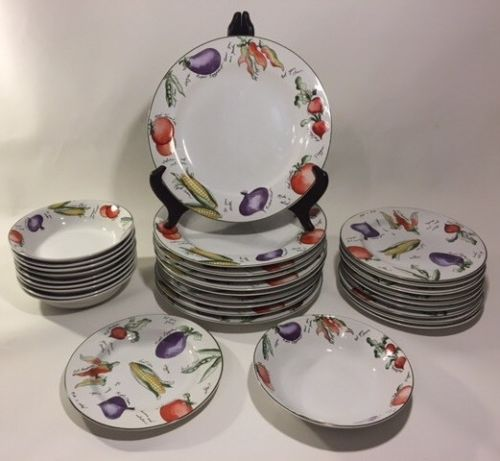 Furio Garden Delight Dinner Plates (10), Salad Plates (10), And Bowls (10)