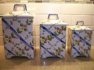 Canister Set Jay Willfred of Andrea by Sadek Made in Portugal (3) Porcelain