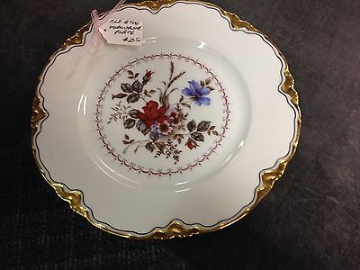 Hand Decorated Osborne Studios German China Plate with Flowers and Gold Rim