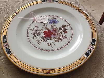 Antique Hand Decorated Osborne Studios German China Plate with Flowers