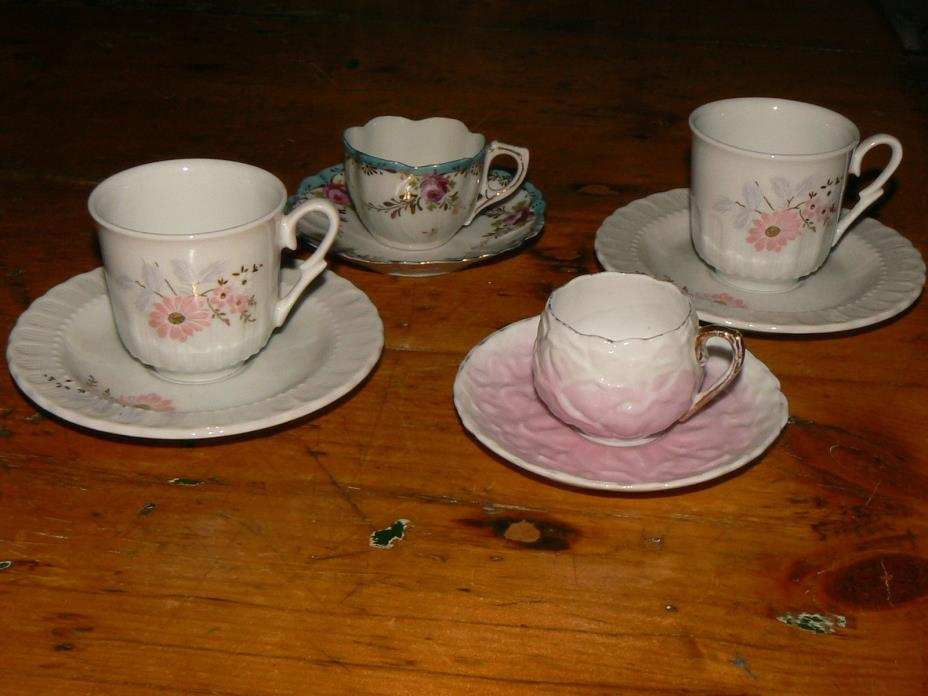 (4) Demitasse Cups and Saucers