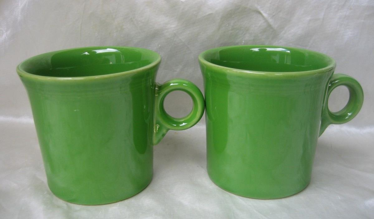 (2) Fiesta Shamrock Green Mugs