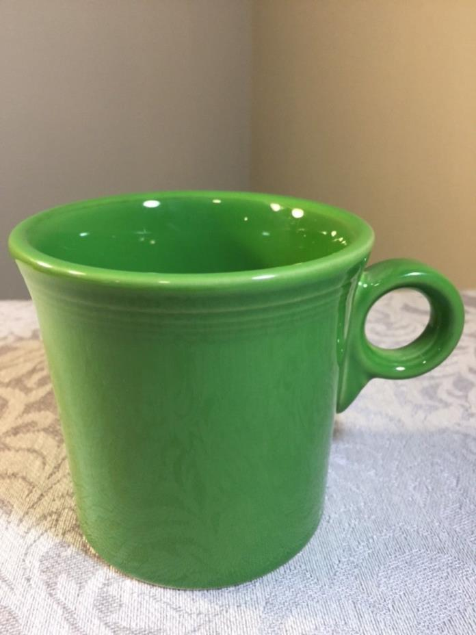"Fiesta Ware Green ""O"" Ring Handle Coffee Tea Mug Cup"
