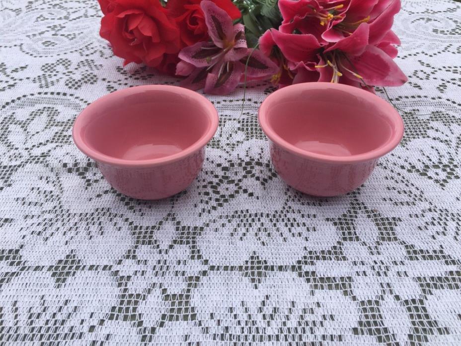 FIESTA ROSE pink Set of 2 BOUILLON BOWLS Fiestaware bouillonbowl