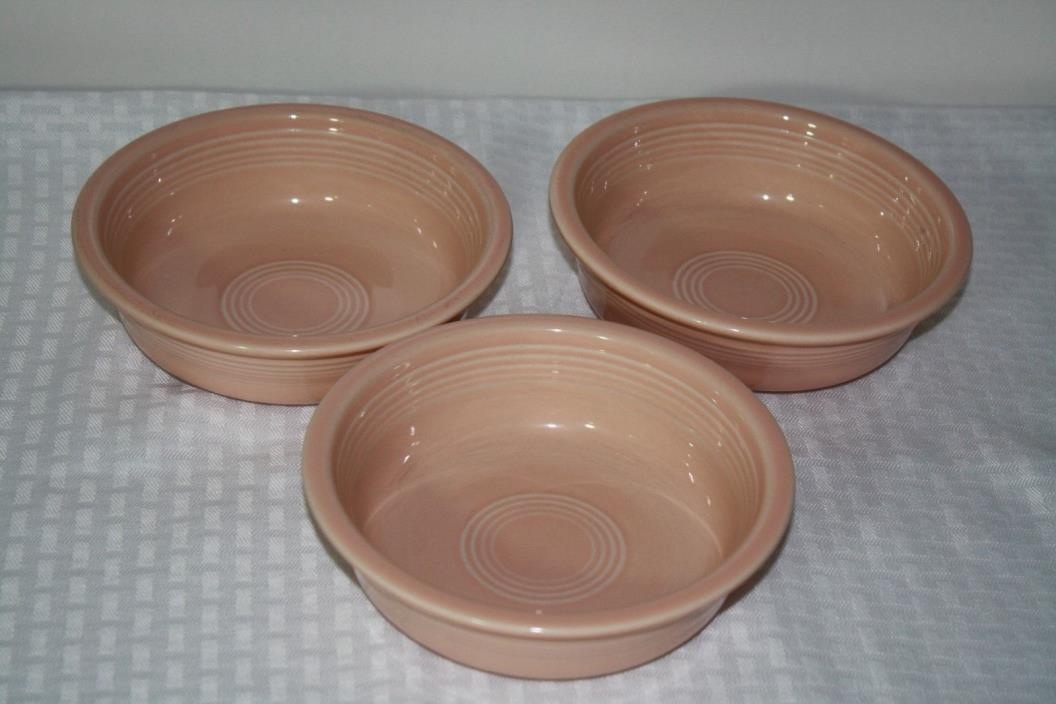 Fiestaware Apricot Cereal/Soup set of 3