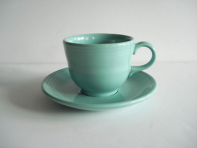 Fiestaware New Green cup and saucer