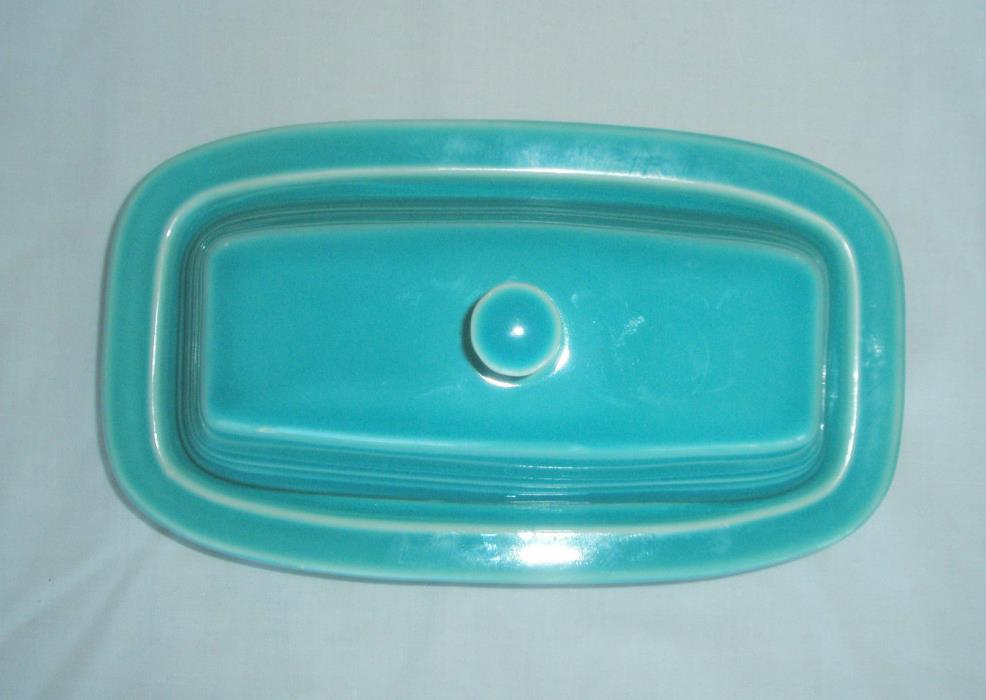 FIESTA Turquoise Small Butter Dish with Lid for 1/4 lb butter stick