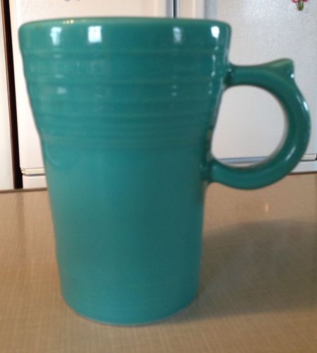 Fiesta Latte Mug Turquoise 16 Ounce Cup Over 5 Inches Tall  EUC