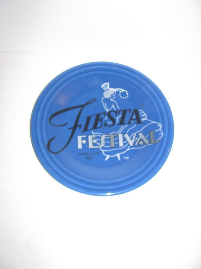 Fiesta Dinner ware, 2017 Fiesta Festival, Lunch Plate, Fiestaware, Lapis Blue
