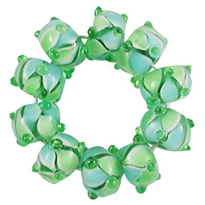 Trez Handmade Glass Lampwork Spacer Beads (Set of 10) SP154