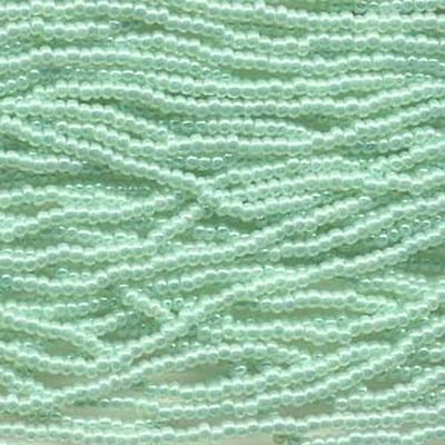 Czech Seed Beads 11/0 Ceylon Light Green 31103 (6 strand hank) Glass Rocaille