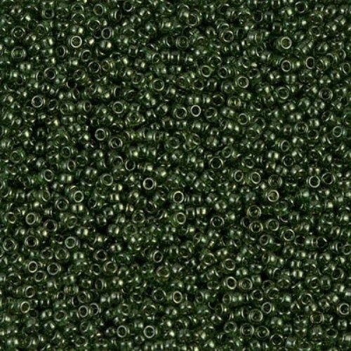 Miyuki Round Rocaille Seed Beads Size 15/0 Olive Green Gold Luster 8.2GM 15-306