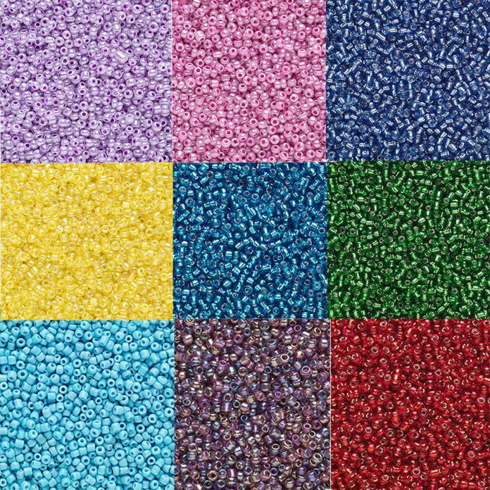 2000 Tiny Round Glass Seed Beads Loose ( 20 Grams )  #11 Transparent Colors 11/0