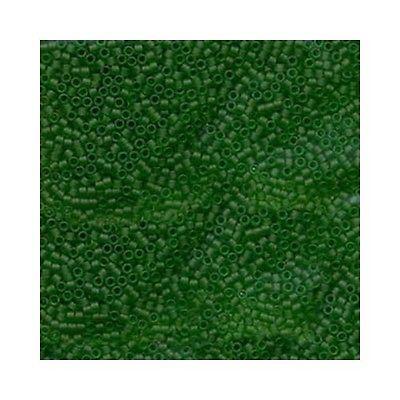 Delica Beads Miyuki 11/0 Seed Beads DB746 Matte Transparent Green Cylinder Tube
