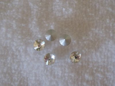 5mm Rivoli Crystal Clear Rhinestones qty.5
