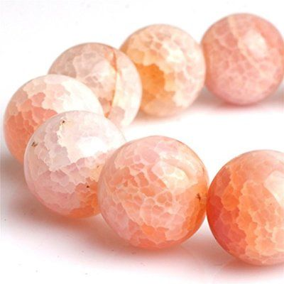 Round Beads & Bead Assortments Crackle Agate Gemstone Loose In Bulk For Jewelry
