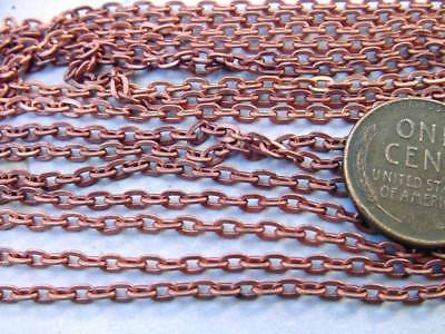 Vintage Copper Tone Metal Small Link Chain 6 Feet