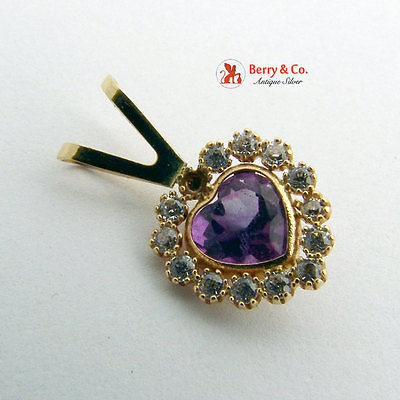 Heart Pendant Amethyst 14 K Rose Gold
