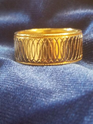 VINTAGE 14K YELLOW GOLD WED-LOK BAND SIZE 11 10.4 GRAMS
