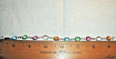 VTG 1989 FRENCH QUARTERS STERLING SILVER CRYSTAL BRACELET LEVERBACK EARRING SET