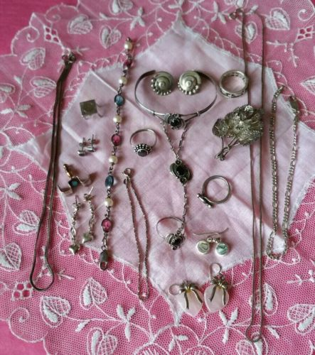 Vintage to Now Sterling Silver Jewelry Lot