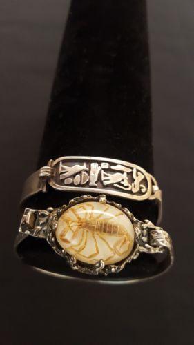 Lot of vintage Egyptian scorpion bangles