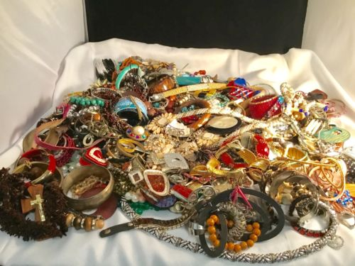 Box Of Vintage - Now Jewelry, For Scrap, Parts, Jewelry Art, Wear, Share, Repair