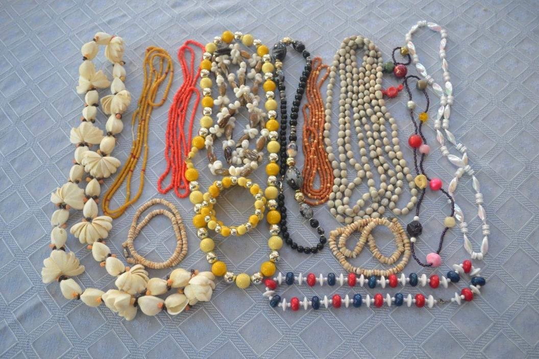 Lot 2- Necklaces, 14 Pieces Costume Jewelry