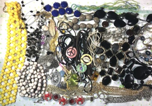 Vintage To Now Bracelet Necklace Junk Jewelry Repair Repurpose Craft 2 LBS Lot V