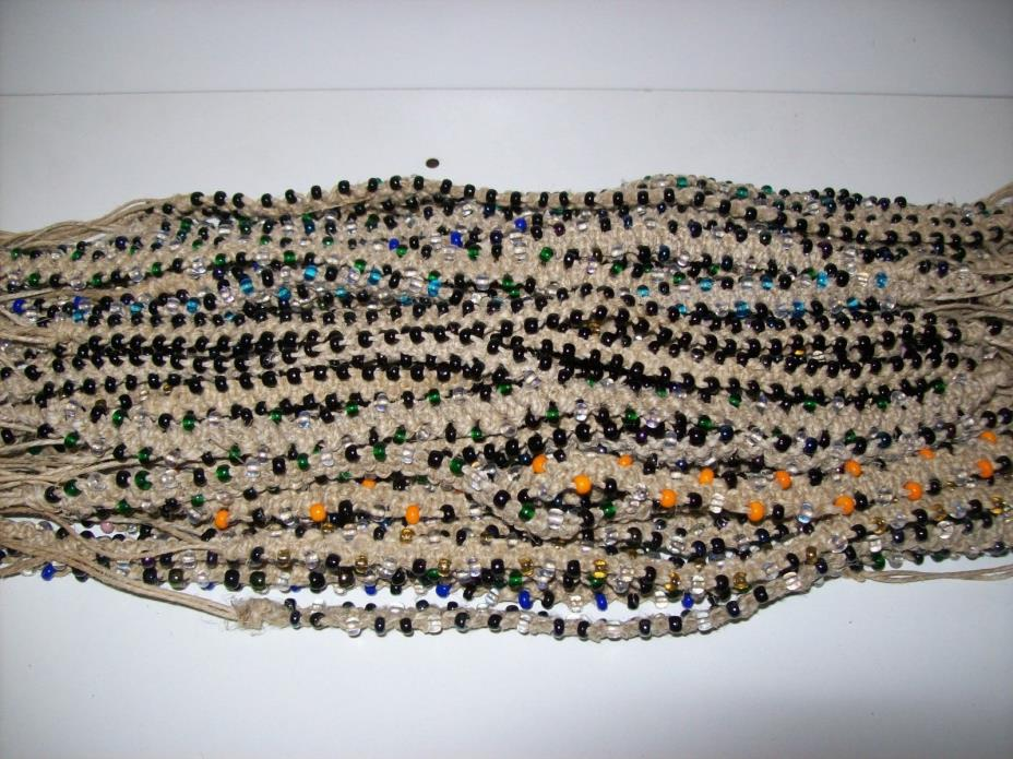Wholesale 50 pc Handmade Guatemalan Hemp Glass Beaded Necklace / Anklet Lot