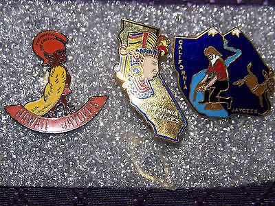 Vintage Lot of 3 Jaycee's Pins