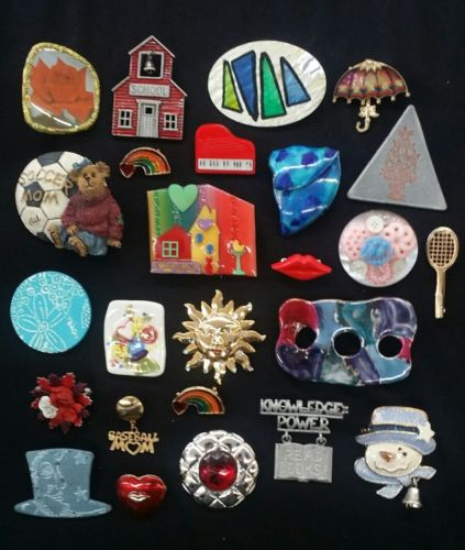 Pin Brooch Lot Vintage Modern Assorted 25pc
