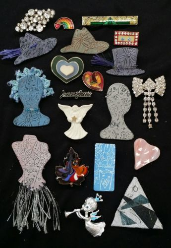 Pin Brooch Lot Assorted 20 pc