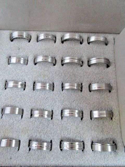 Wholesale Ring Lot 20 Stainless Steel Comfort Fit  Mix styles & Sizes US Seller