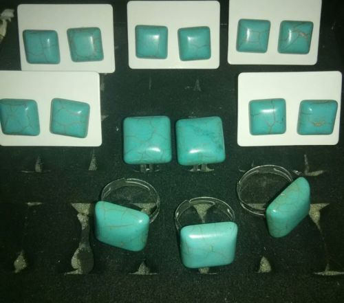 4 sets of turquoise jewelry 12pc lot