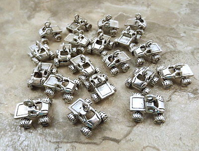 Twenty (20) Pewter MONSTER TRUCK Charms - 5418