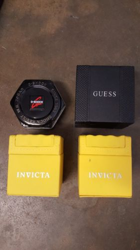 Lot of 4 Watch Empty Box Cases Guess, G-shock, Invicta