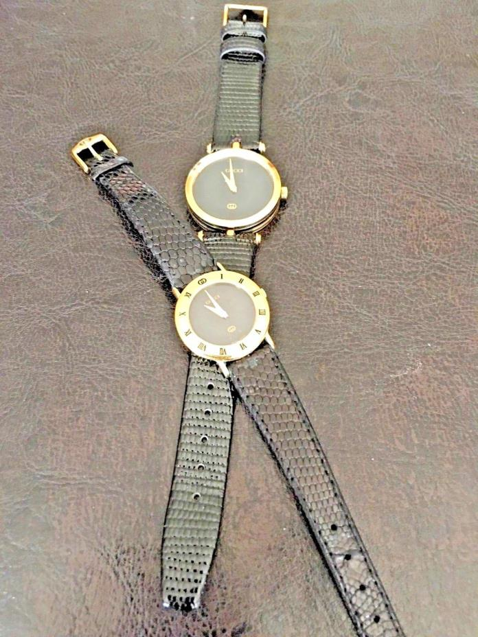 Vintage Gucci Pair of Watches