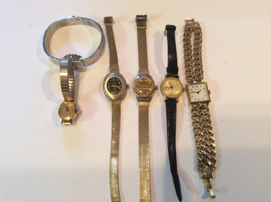 Lot of 6 mechanical womens watches,sold as-is,for parts and or repair,      T336
