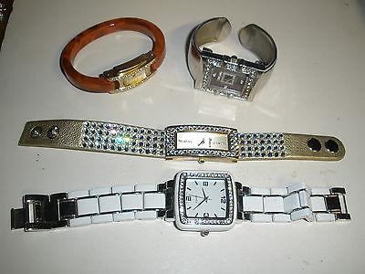 lot of 4 quartz watches Ceiqny, Kristine, Geneva Platinum,