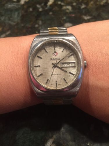 Vintage Rado President Swiss Automatic Day-Date Mens Wristwatch