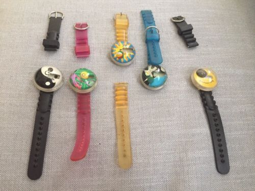 Lot Of 5 Broken Vintage Bubble Watches