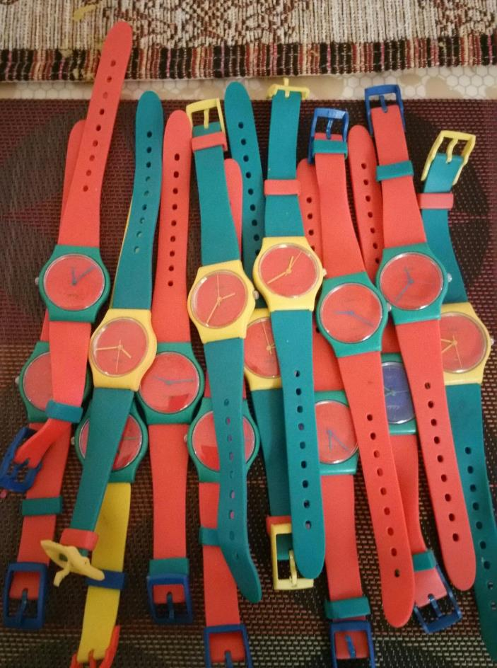 Plastic Aloha Watches - Lot of 12 Watches