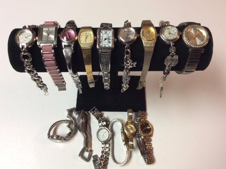 Large lot of womens watches,nicer watches for a lot,sold as-is,parts/repair T442