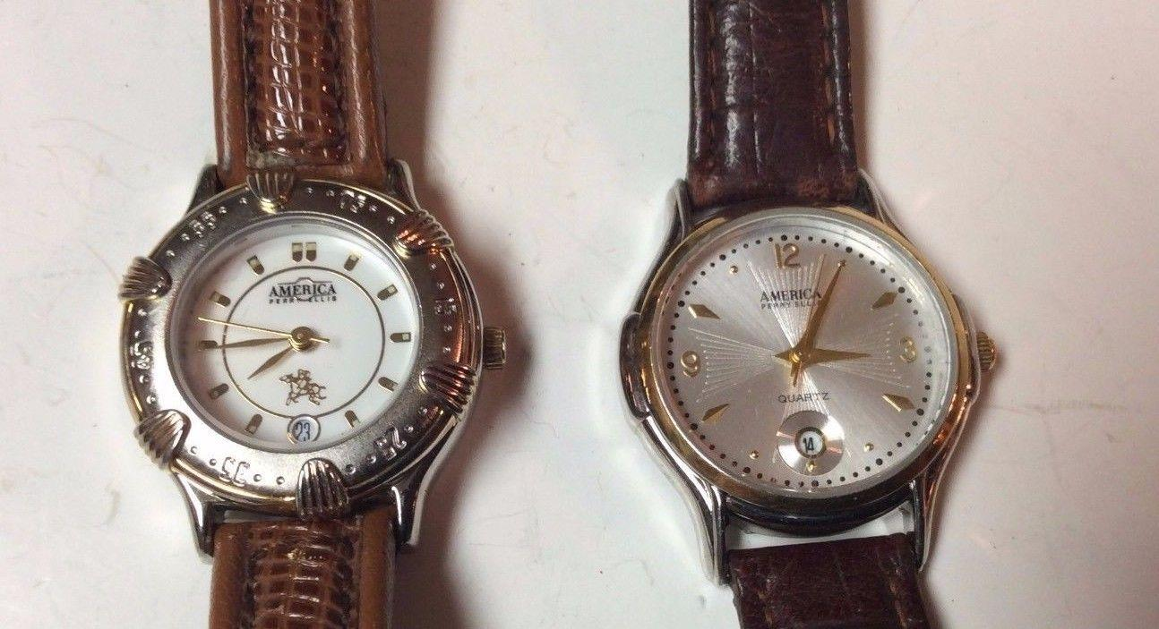 Lot of 2 America Perry Ellis womens watches